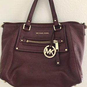Michael Kors small maroon handbag without strap